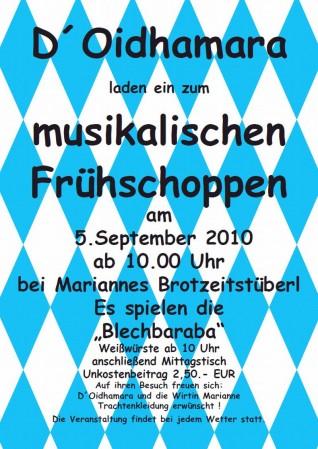 Flyer_Frühschoppen_2010