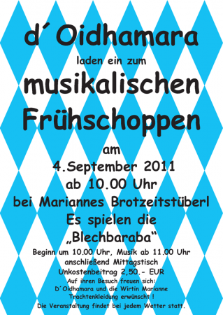 Flyer Frühschoppen 2011